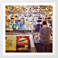 Record Store Art Print