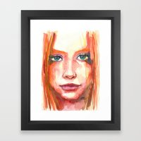 Portrait - RedHair & Fre… Framed Art Print