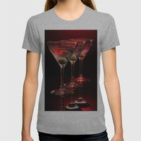 Red hot martinis. Womens Fitted Tee Athletic Grey SMALL