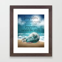 Fantasy Quote Wall Art - Imagination quote - Ocean View Imagination Framed Art Print