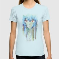 Rei Ayanami From Evangel… Womens Fitted Tee Light Blue SMALL