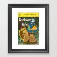 Byron And Backwoods Girl… Framed Art Print