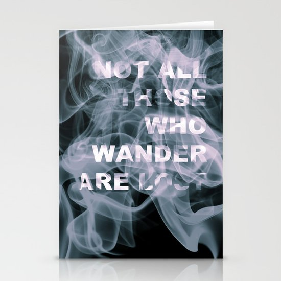 Smoke Quote Stationery Card
