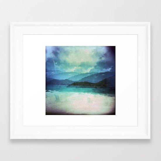 Tropical Island Multiple Exposure Framed Art Print
