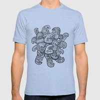 Heads Mens Fitted Tee Tri-Blue SMALL