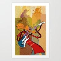 Floyd Pepper and the Electric Mayhem Art Print