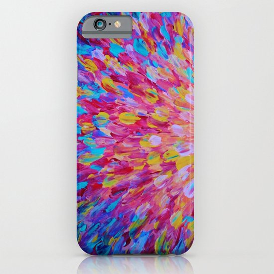 SPLASH, Revisited - Bold Beautiful Feminine Romance Ocean Beach Waves Magenta Plum Turquoise Crimson iPhone & iPod Case