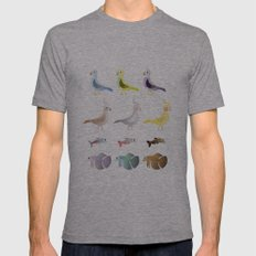 Animals 9 Mens Fitted Tee Athletic Grey SMALL