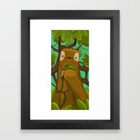 Sally The Sloth Framed Art Print