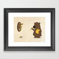 Bee Game Framed Art Print