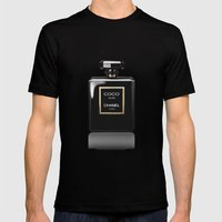 CHANEL Noir Mens Fitted Tee Black SMALL