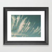 feather clouds Framed Art Print
