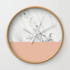 Marble and Coral Wall Clock