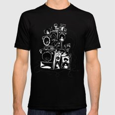 boombox Mens Fitted Tee Black SMALL