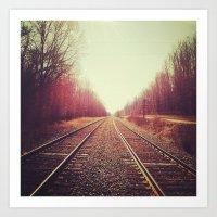 disappearing tracks Art Print