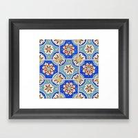 Italian Tiles Framed Art Print