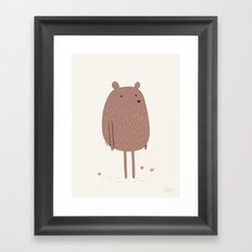 There Bear Framed Art Print