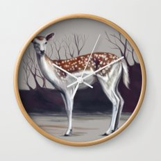 Deer in the forest Wall Clock