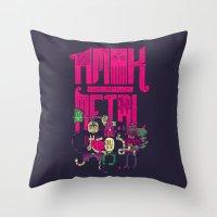 Amok And Totally Metal Throw Pillow