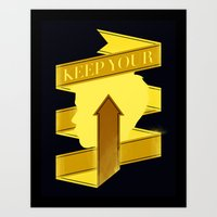 Keep Your Head Up. Art Print