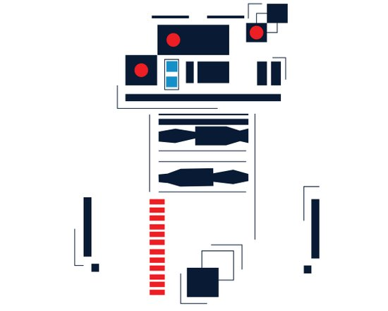 R2D2 Abstract Canvas Print