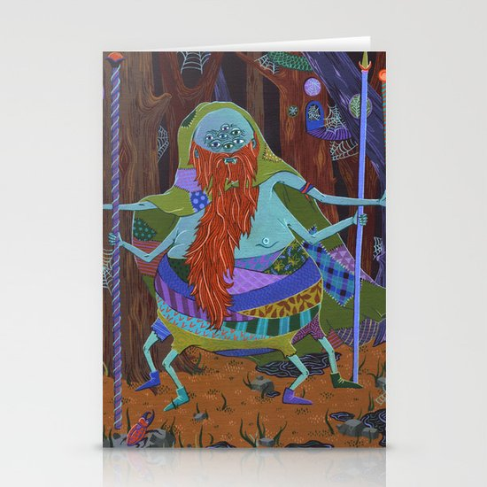 The Spider Wizard Stationery Card