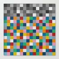 Colour Block With Topper… Canvas Print