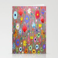 Flowers-Abstracts  Stationery Cards