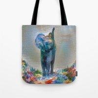 Elephant in my garden 2 Tote Bag