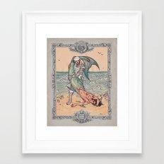 Sailor and Merman Framed Art Print