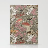 Fishes & Flowers - Seamless pattern Stationery Cards