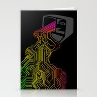Digital Stream Stationery Cards