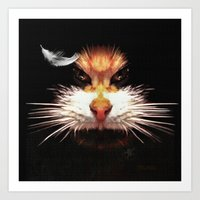 Naughty Cat Art Print