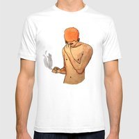 Sadness Smokes Mens Fitted Tee White SMALL