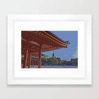 Late Afternoon at Heian Shrine Framed Art Print