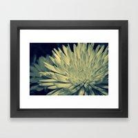 Cross Flower Framed Art Print