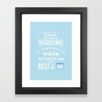 Words To Live By Framed Art Print