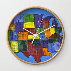 U.S.A. Wall Clock