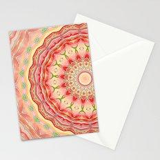 Mandala Tequila Sunrise -- Kaleidoscope of Vibrant Sunny Colors Stationery Cards