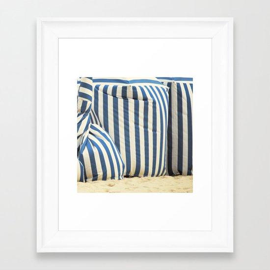 In The Beach Framed Art Print