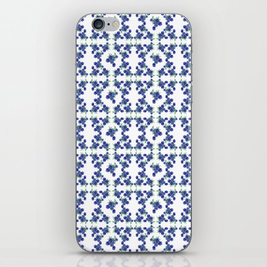 Violet Flowers Pattern iPhone & iPod Skin