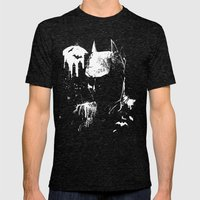 The Dark Knight Mens Fitted Tee Tri-Black SMALL