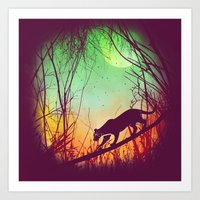Through The Brush Art Print