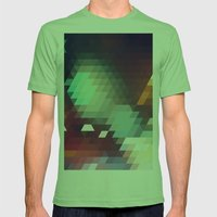 Triangle Pattern Mens Fitted Tee Grass SMALL