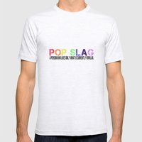Pop Slag Mens Fitted Tee Ash Grey SMALL