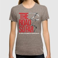 The Road So Far Womens Fitted Tee Tri-Coffee SMALL