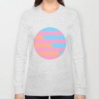 Neon Stripes /// www.pencilmeinstationery.com Long Sleeve T-shirt