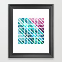 Triangles #7 Framed Art Print