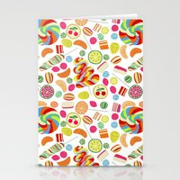 Rainbow Candies Stationery Cards