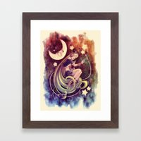 The Moon and the (Rock)Star Framed Art Print
